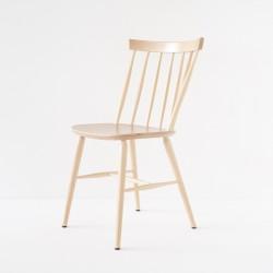 Chaise scandinave en hêtre courbé finition vernie ou cirée incolore