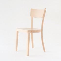 Chaise Filby style Baumann en hêtre courbé finition cirée ou vernie incolore