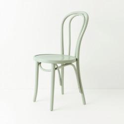 Chaise bistrot N°18 bleu vert pastel