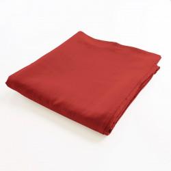 drap de lit plat 100% lin rouge Falun