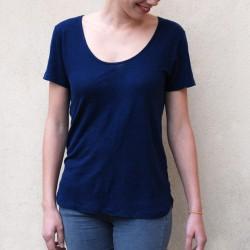 T-shirt en lin Tee bleu nuit