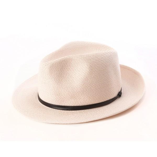 chapeau d'été rose poudre vue de côté