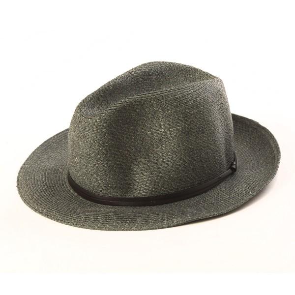 chapeau d'été gris granit vue de côté