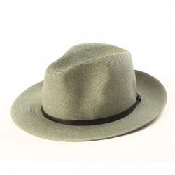 chapeau d'été vert amande vue de côté