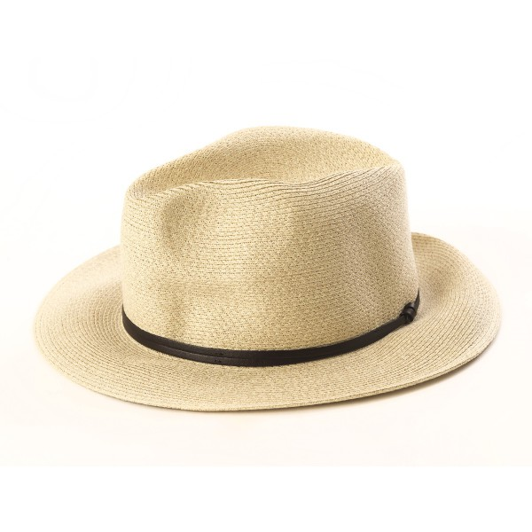 chapeau d'été beige mastic vue de côté