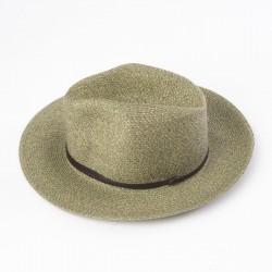 chapeau d'été vert army vue de côté