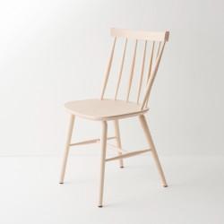 Chaise scandinave en hêtre courbé brute à peindre