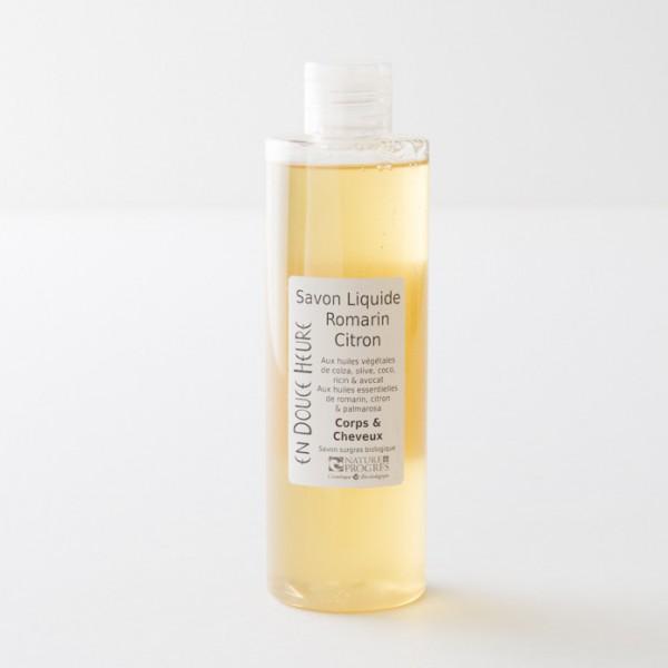 savon liquide bio romarin citron en flacon de 250ml