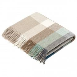 plaid laine Lambswool géométrique eucalyptus