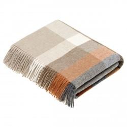 plaid laine Lambswool géométrique saffran