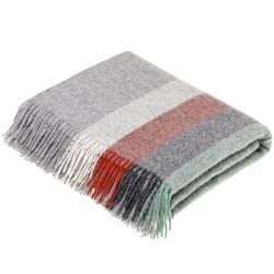 plaid laine Lambswool géométrique menthe