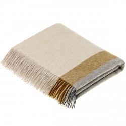 plaid laine Lambswool géométrique pecan