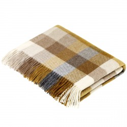 plaid laine Lambswool arlequin pécan