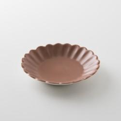 assiette pétale sharing brique mat de chez Jars Céramistes