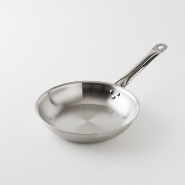 "poêle ""chef"" inox brossé 24 cm"