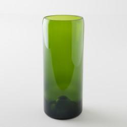 Vase en verre bouteille magnum vert de chez Q de Bouteilles