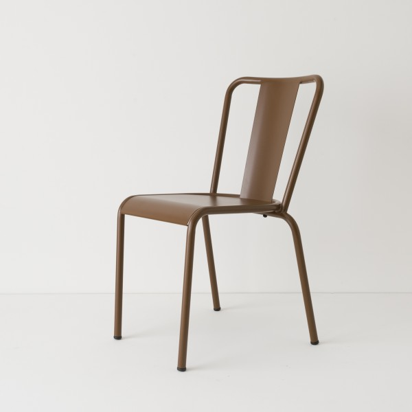 chaise de jardin métal chocolat