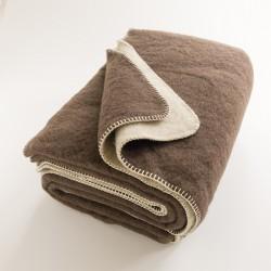 Plaid en laine ultra chaude réversible