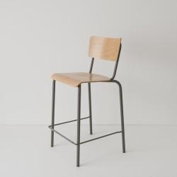 chaise haute 65cm cuisine américaine époxy taupe
