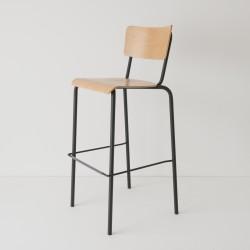 chaise haute 80cm coloris tube noir
