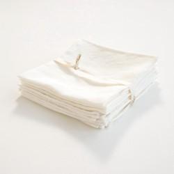 serviette blanche en lin léger
