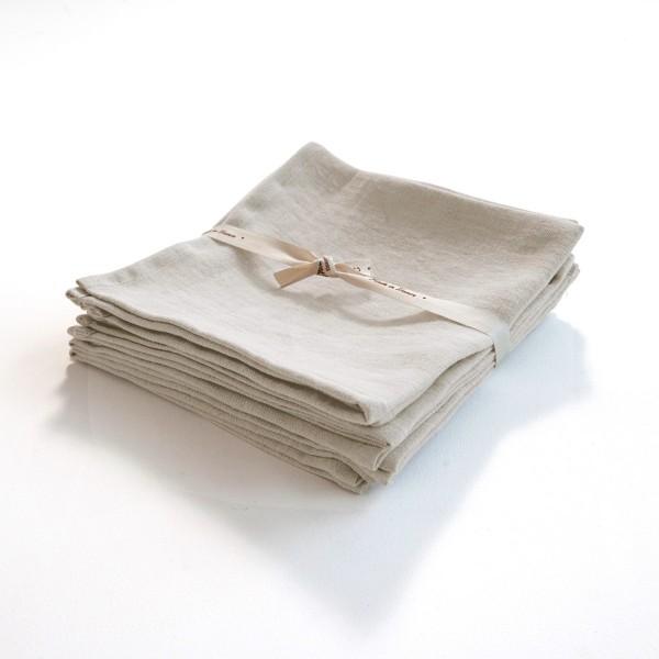 serviette en lin léger naturel