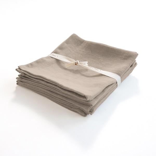 serviette en lin léger grège
