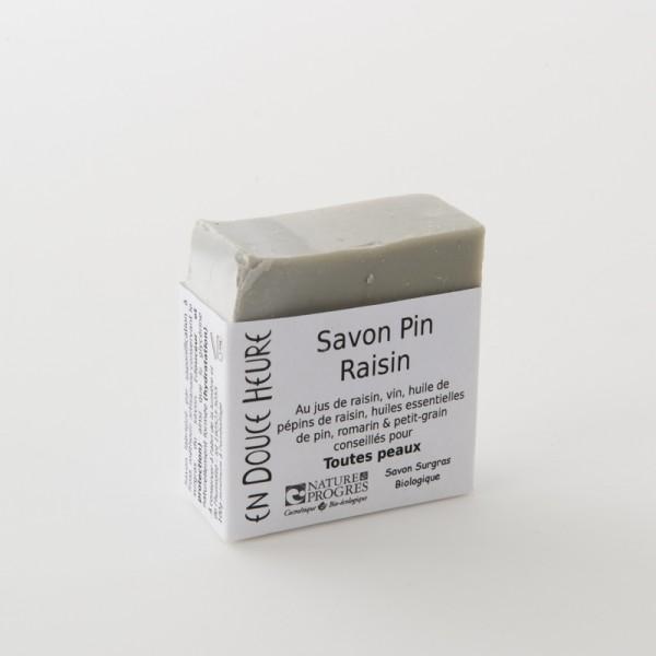 savon biologique pin raisin de chez En Douce Heure