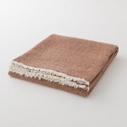 plaid laine uni cannelle de chez Lapuan Kankurit