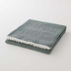 plaid laine uni vert sapin de chez Lapuan Kankurit