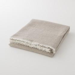plaid laine uni beige de chez Lapuan Kankurit