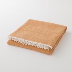 plaid laine uni safran de chez Lapuan Kankurit