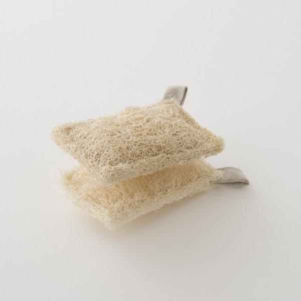 set de 2 lavettes loofah de chez Iris Hantverk