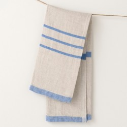 serviette PM lin gris bleu vif de chez Lapuan Kankurit
