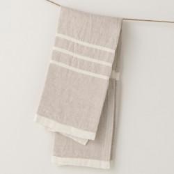 serviette PM lin gris crème de chez Lapuan Kankurit
