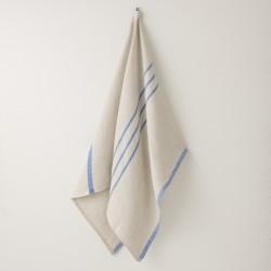 serviette MM/GM lin gris bleu vif de chez Lapuan Kankurit