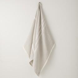serviette MM/GM lin gris crème de chez Lapuan Kankurit