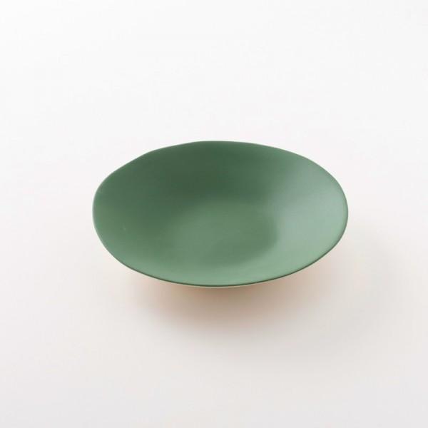 assiette creuse 20 cm cm en grès coloris cresson de chez Jars Céramistes