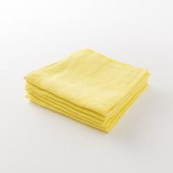 serviette lin épais citron de chez Lapuan Kankurit