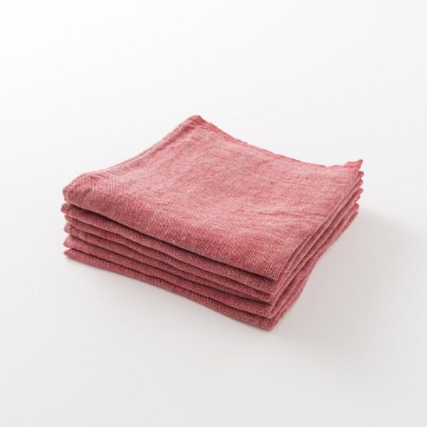 serviette lin épais rouge de chez Lapuan Kankurit