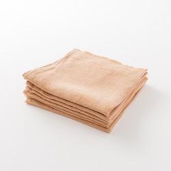 serviette lin épais rouille de chez Lapuan Kankurit