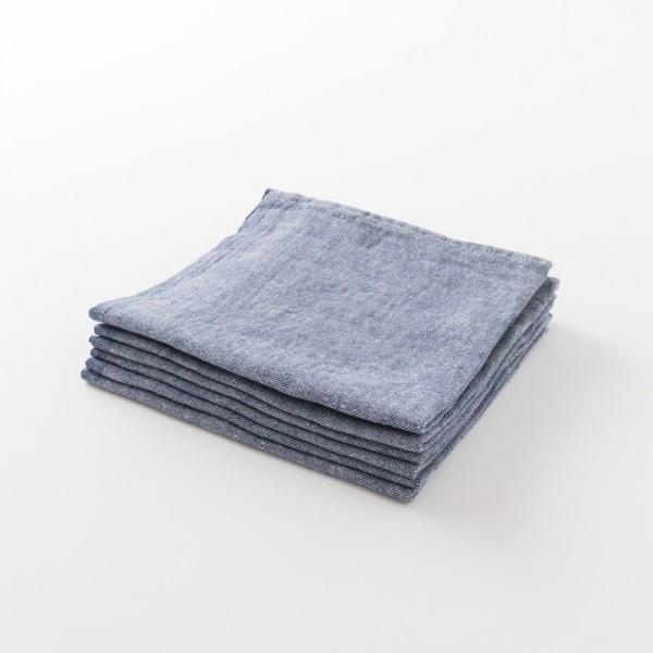 serviette lin épais bleu nuit de chez Lapuan Kankurit
