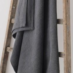 plaid 130x200 en lin lourd graphite
