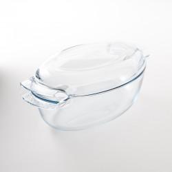 cocotte ovale en verre trempé Pyrex 4.4l