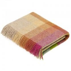plaid laine Lambswool géométrique sunshine