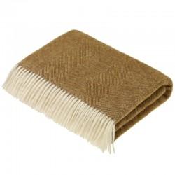 plaid laine de pays chevrons pecan