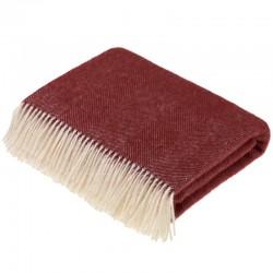 plaid laine de pays chevrons bordeaux