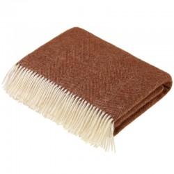 plaid laine de pays chevrons brique