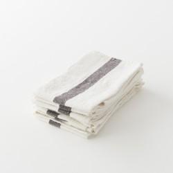 torchon doux lin lavé blanc de chez Charvet Editions