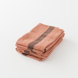torchon doux lin lavé terracotta de chez Charvet Editions